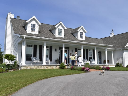 The Southern-style Chomeau home, 10503 Townline Drive,
