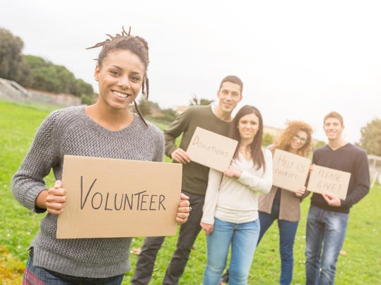 Multiethnic Group of Young Volunteers