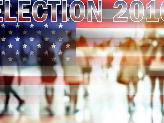 USA election 2016 background