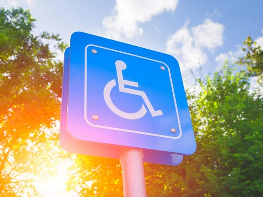 Parking for disability persons sign.