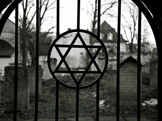 Judaism. Jewish Star of David. Jude Cemetery.Ghetto. Holocaust. Auschwitz.