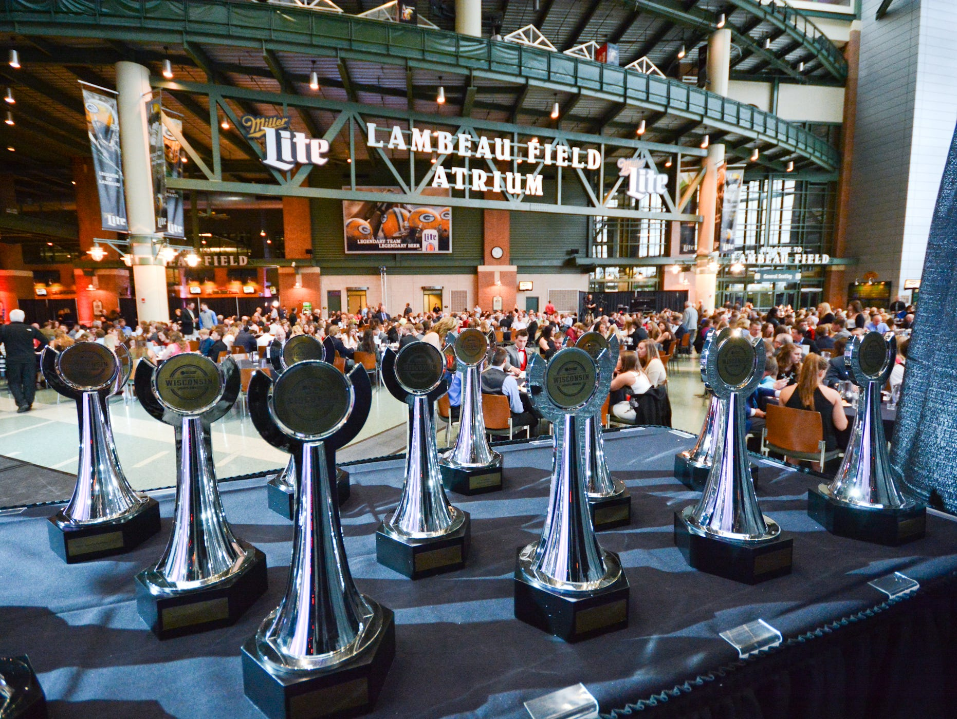 Standout athletes, coaches and teams from high schools in the Appleton, Fond du Lac, Green Bay, Manitowoc, Marshfield, Oshkosh, Sheboygan, Stevens Point, Wausau and Wisconsin Rapids markets will be saluted for their achievements during the upcoming Wisconsin High School Sports Awards show. The event will be held May 12 at the Lambeau Field Atrium in Green Bay.