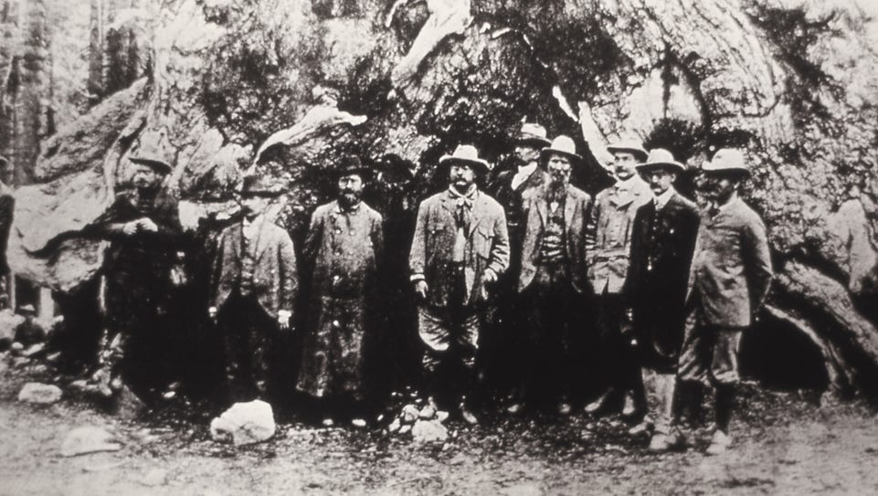 President Theodore Roosevelt, John Muir and others