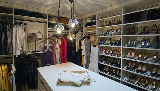 California Closets walk-in with country flair
