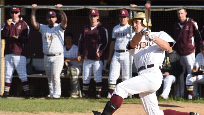 Arlington's Mike Bulgia makes contact during Wednesday's game against Mahopac.