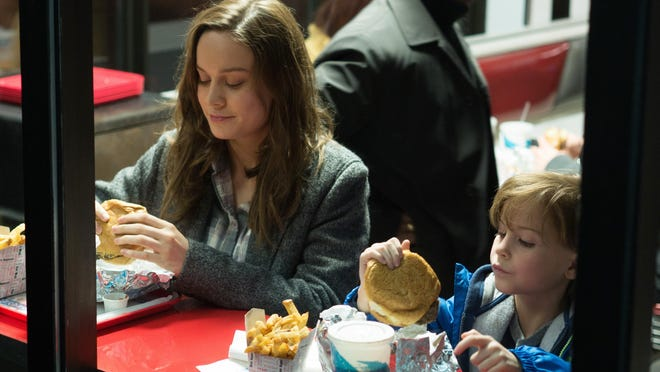 "In this image released by A24 Films, Brie Larson, left, and Jacob Tremblay appear in a scene from the film, ""Room."" The movie opens in U.S. theaters on Oct. 16, 2015."