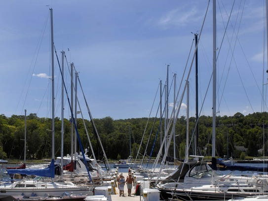 The Egg Harbor Marina is one of two state marinas to