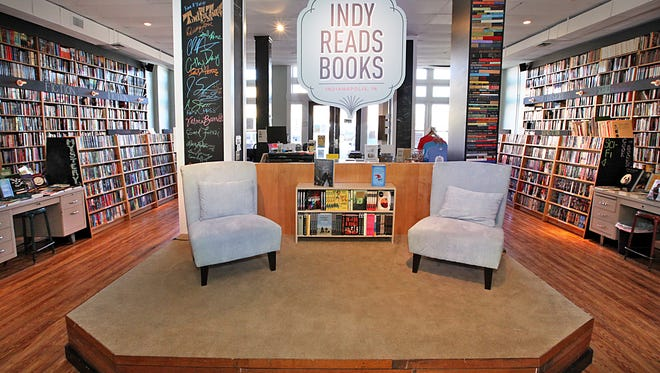 An overall interior of a portion of Indy Reads Books at the 800 Block of Mass Ave.
