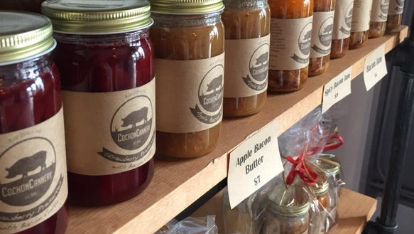 Cochon Cannery's new storefront offers items like apple