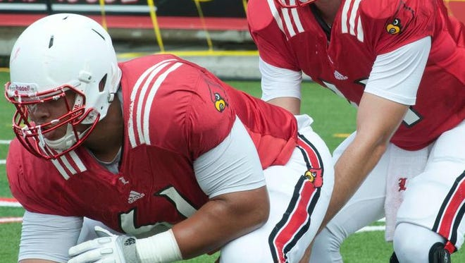 Center Tobijah Hughley is back on U of L's offensive line, but there won't be much returning experience around him.