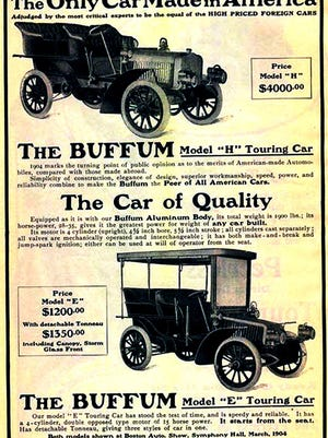 Herbert H. Buffum built this 1904 Buffum H Series automobile in Abbington, Massachusetts. It sold for $4,000 which was a hefty price for a luxury car back then.
