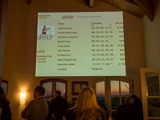 The Nov. 14 ¡Salud! Cuvée Tasting and Big Board Auction, held at Domaine Drouhin Oregon, drew a crowd of 475 attendees and raised more than $200,000.