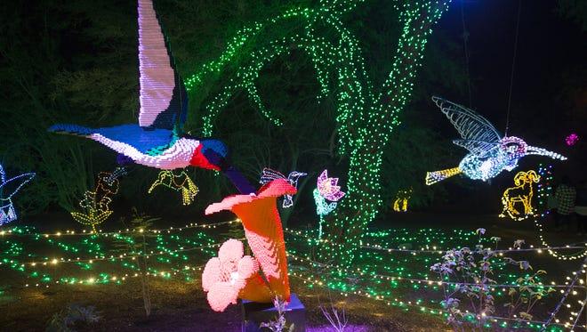 Displays illuminate at ZooLights at the Phoenix Zoo November 23, 2016.