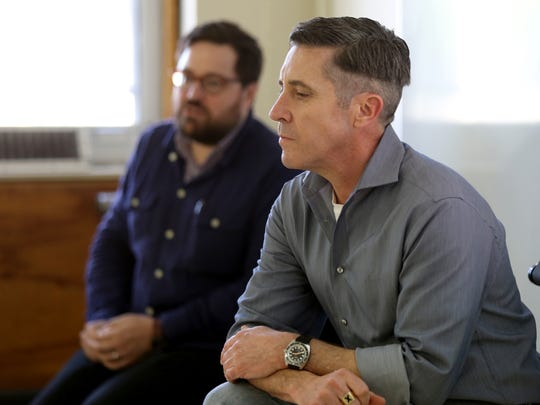 University of Memphis history professors Andrew Daily (left) and Scott Marler decided that Donald Trump's inauguration Friday was a good time to have a teach-in about whether his election mirrored past descents into fascism and authoritarianism.
