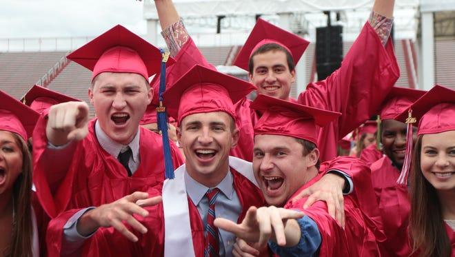 Miami University Graduation ceremonies where held at Yager Stadium Saturday, May 14.