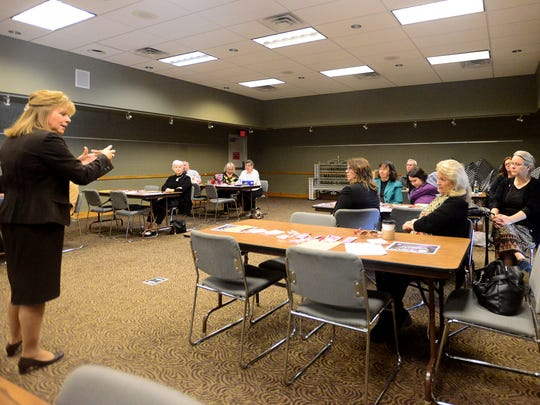 The Jackson Area Business and Professional Women held their first Brown Bag Lunch Presentation for National Business Women's Week on Monday afternoon at the library.