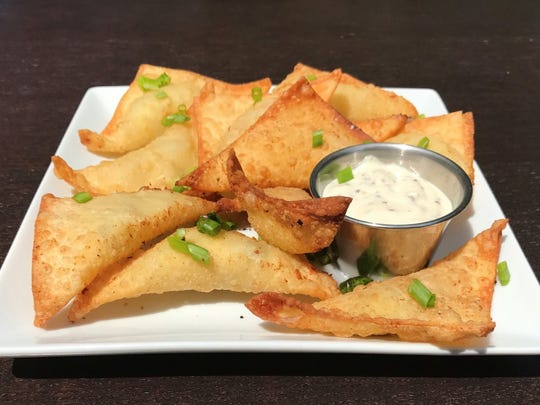 Fried Pickle Potstickers at Stone & Rail