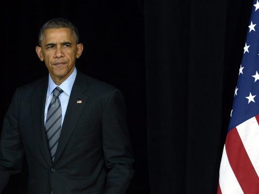 US President Barack Obama visits high school