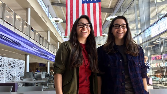 Sisters Ariela and Verania Andrade are graduating from Ben Davis High School in June. They are top students at the school and both plan to join the Air Force after graduation.