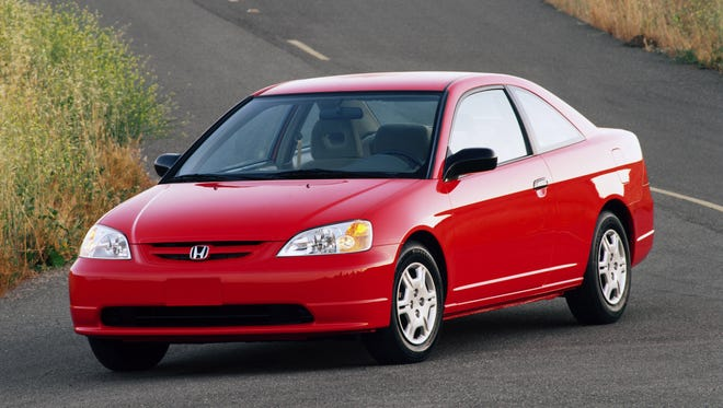 The 2001 Honda Civic LX two door coupe