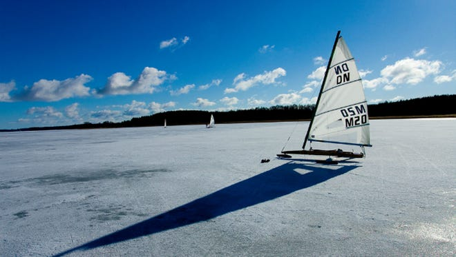 "Ice boating: Winter sailors call frozen lakes ""hard water"" and take boats fitted with runners instead of a keel sailing across solid bodies of water. The idea is the same, but the physics are slightly different. Lake Winnipesaukee in New Hampshire and Lake Minnetonka in Minnesota are popular spots for the sport. Ice boaters have recorded speeds of upwards of 100 miles, but more commonly they sail in the 55 mph range."