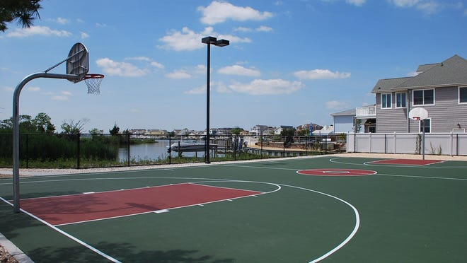 New basketball court in reopened Bayside Park in Ortley Beach section of Toms River.