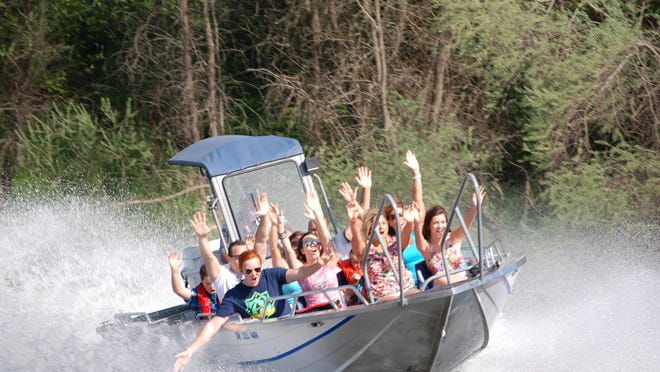 Rogue Jet Boat Adventures runs tours beginning from Tou Velle State Park on the Rogue River in the Table Rock area.