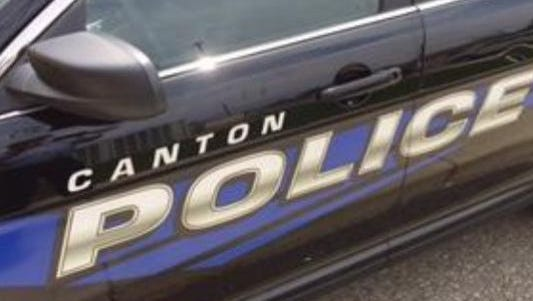 Canton police say a 5-year-old girl drove a golf cart that hit two other girls, leaving one with a broken leg.