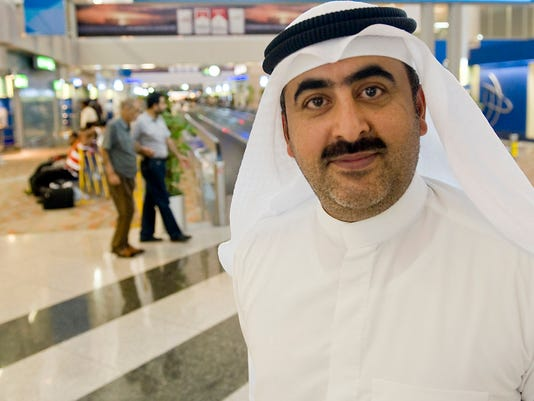 Ahmed of Kuwait arrived at Dubai International Airport the same time we did, to visit family living here.