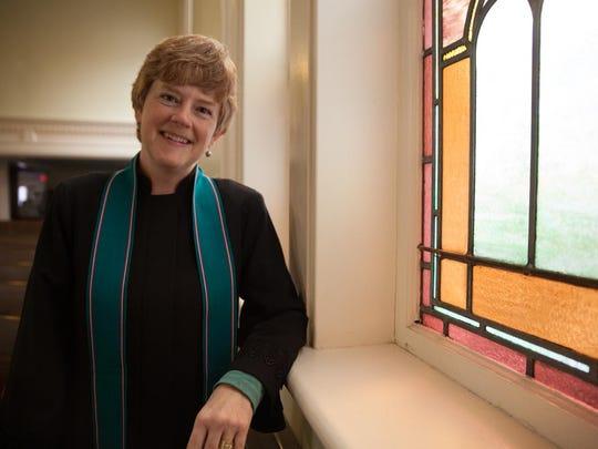 The Rev. Karen Mendes at the First Baptist Church in Burlington.