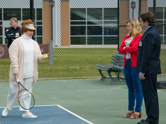 "Melissa McCarthy, Kristen Bell and Ben Falcone in ""The"
