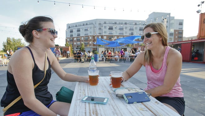 The Constitution Yards beer garden reopens for the season April 26.