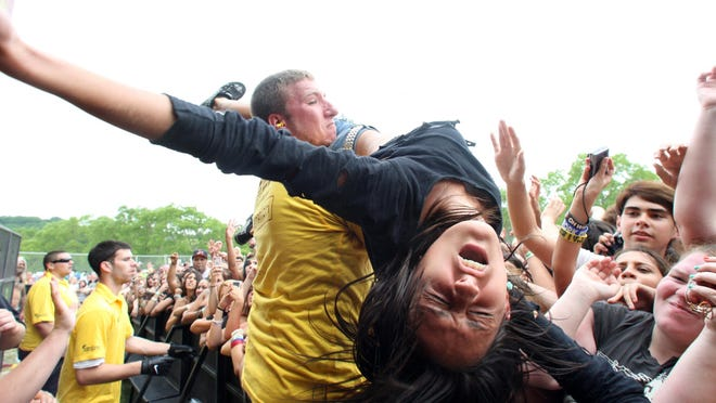 The annual Vans Warped Tour show at the PNC Bank Arts Center in Holmdel in 2012.