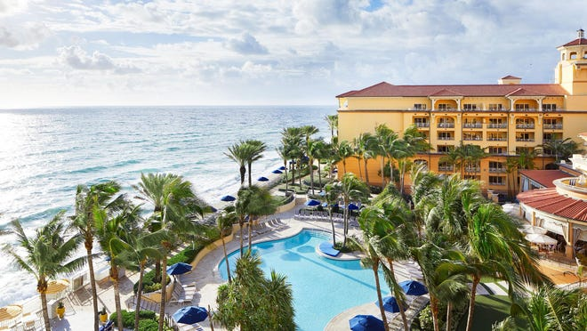 Eau Palm Beach Resort & Spa reopened Wednesday after being closed for nearly 100 days.