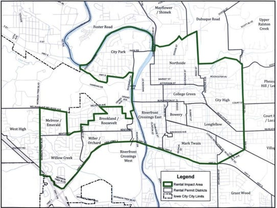 Iowa City staff used longstanding neighborhood boundaries