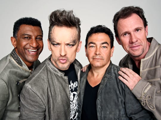 Culture Club today: Mikey Craig (from left), Boy George,