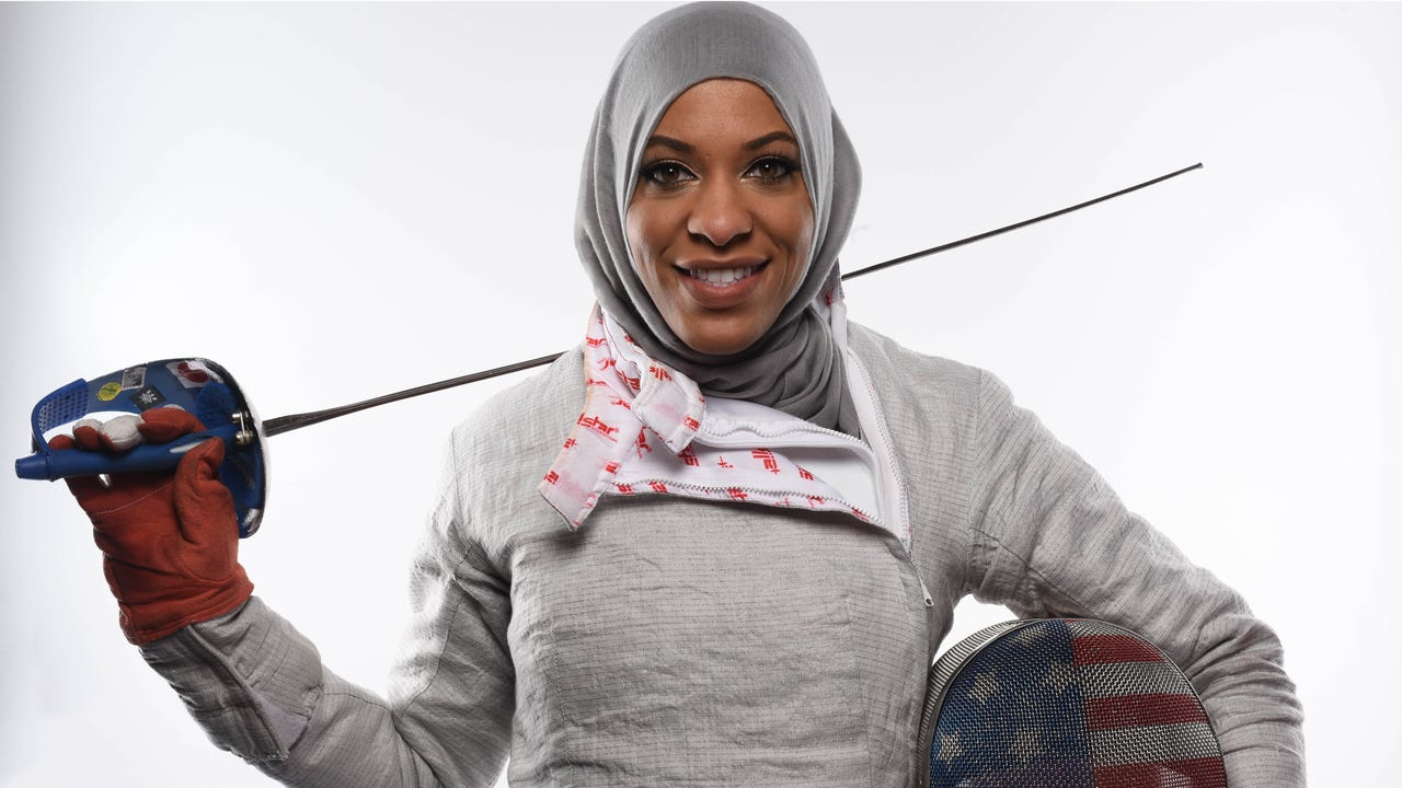 Meet first-time Olympic fencer Ibtihaj Muhammad.