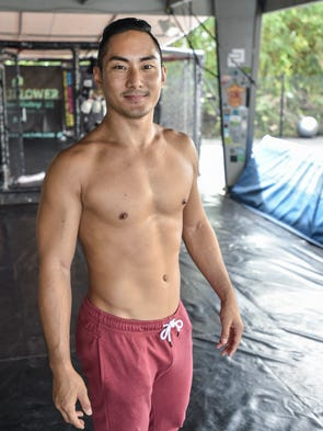 Hayato Atalig at the Spike 22 gym in Tamuning on May