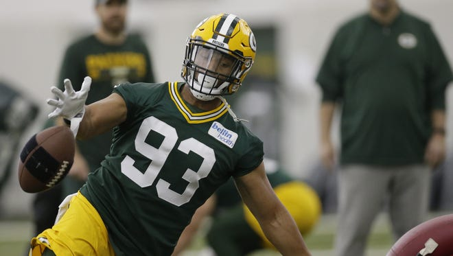 Perhaps no other player saw his status on the Packers' roster upgraded more during the draft than edge rusher Reggie Gilbert.
