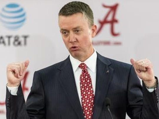 Alabama athletic director Greg Byrne took over for former AD Bill Battle in March.