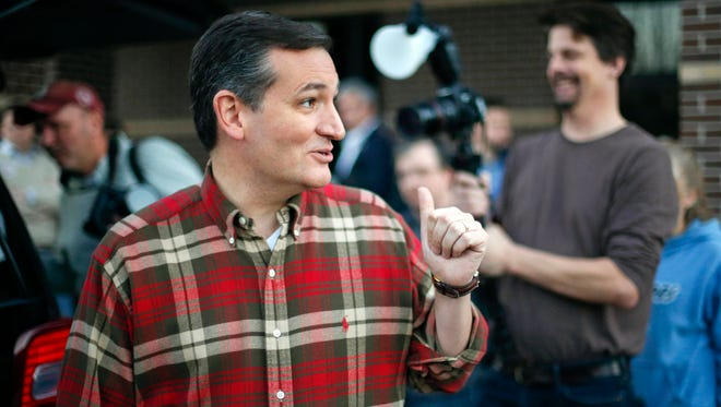 Sen. Ted Cruz, R-Texas, speaks to supporters at the Crossroads Shooting Sports gun shop on Dec. 4, 2015, in Johnston, Iowa.