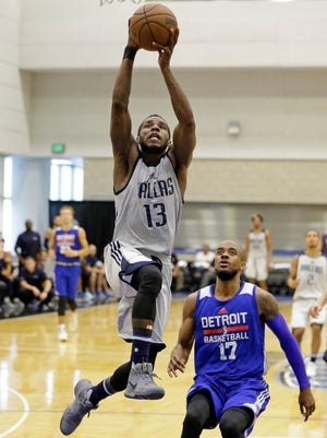Dwight Buycks (13), who recently played for the Dallas Mavericks' summer league team, will be one of the many familiar faces that will play on the Golden Eagles Alumni team that will compete for a second time in The Basketball Tournament.