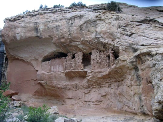 Ancestral Puebloan ruins at Butler Wash in the Bears Ears region are pictured in May 2014.