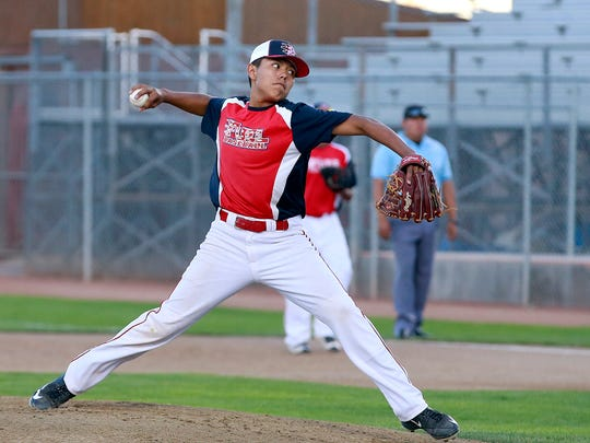 The Fuel's Elijah Atson pitches against the KC Storm on Tuesday at Ricketts Park.