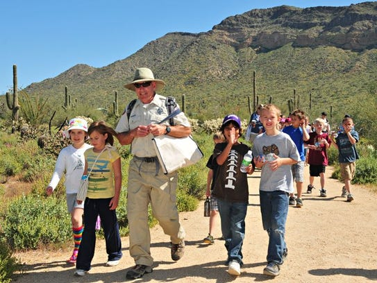 Kids can learn about the desert and solve riddles on the Kids Desert Scavenger Hunt March 12.