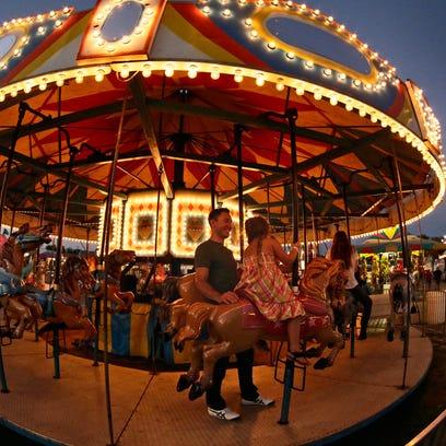 The Merry-Go-Round at the Sheboygan County Fair Thursday