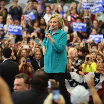 Hillary Clinton in Riverside, May 24, 2016.