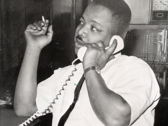 A.D. King, brother of Martin Luther King Jr., is pictured