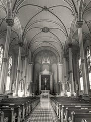 The interior sanctuary of St. George Church in the
