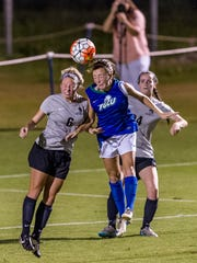 FGCU senior Ally Kasun, competing against USC Upstate